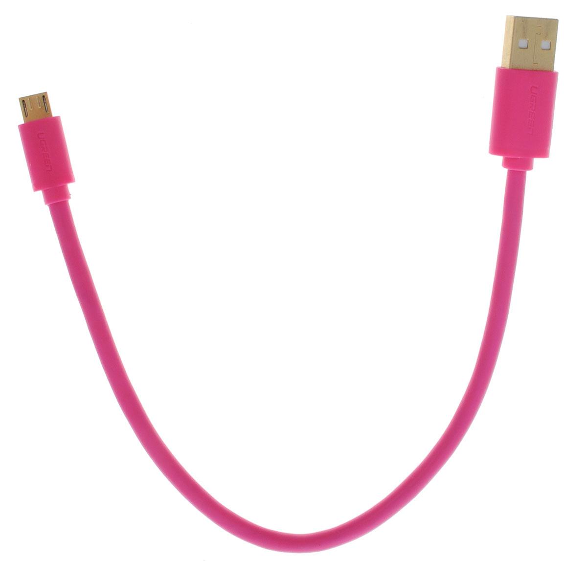 Ugreen Premium UG-10856, Pink, кабель microUSB-USB 0,25 м