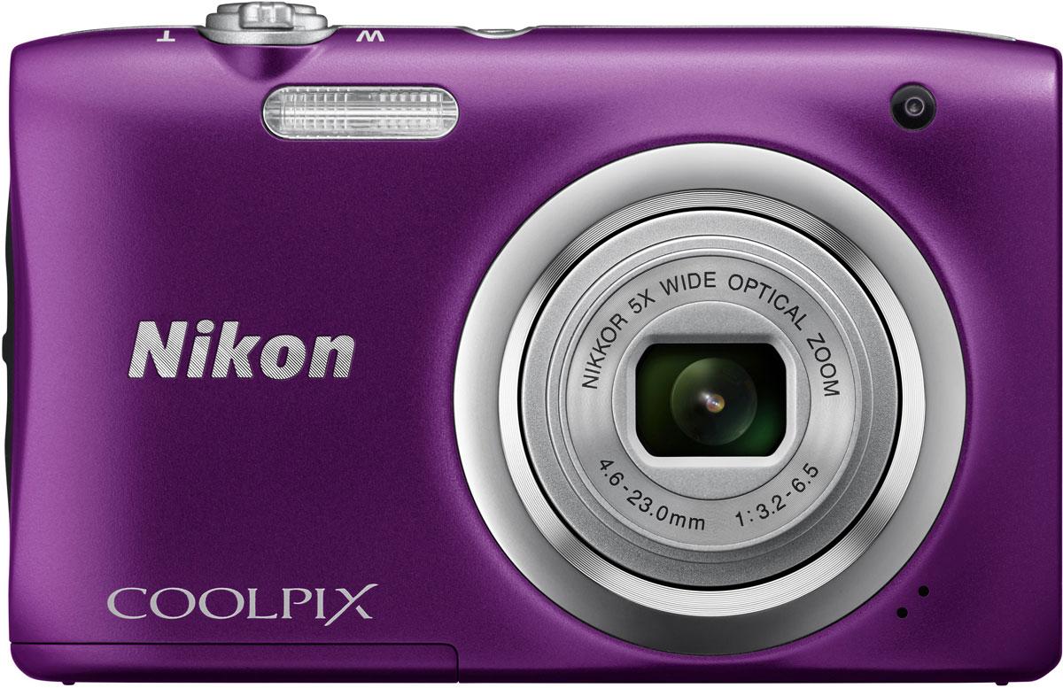 Nikon CoolPix A100, Purple цифровой фотоаппарат