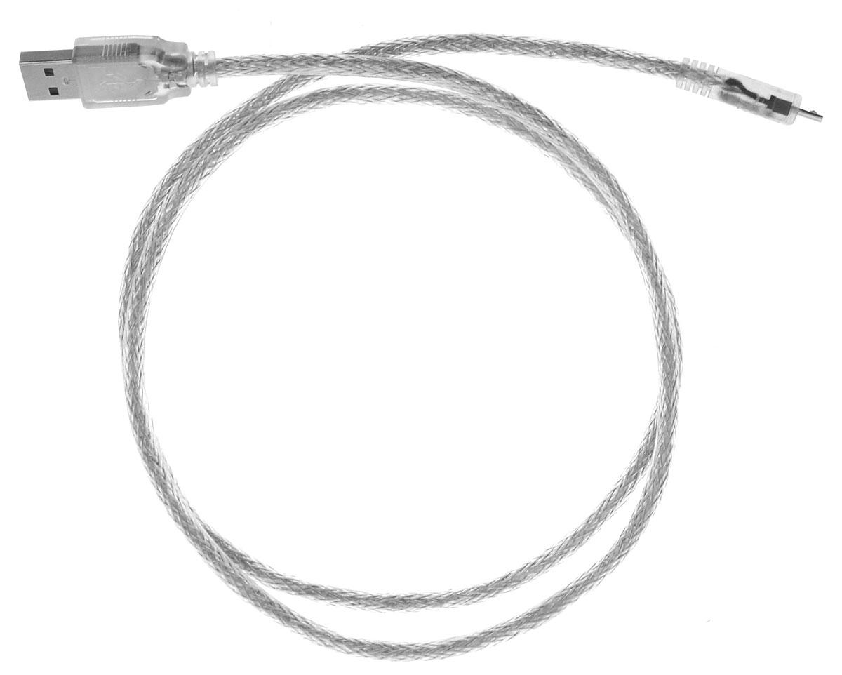 Greenconnect Premium GCR-UA2MCB2-BD2S, Clear кабель microUSB-USB 1 мGCR-UA2MCB2-BD2S-1.0mКабель Greenconnect Premium GCR-UA2MCB2-BD2S позволяет подключать мобильные устройства, которые имеют разъем microUSB к USB разъему компьютера. Подходит для повседневных задач, таких как синхронизация данных и передача файлов. Кабель имеет экранирование, что позволяет защитить сигнал при передаче от влияния внешних полей, способных создать помехи. Пропускная способность интерфейса: до 480 Мбит/с Тип оболочки: PVC (ПВХ)