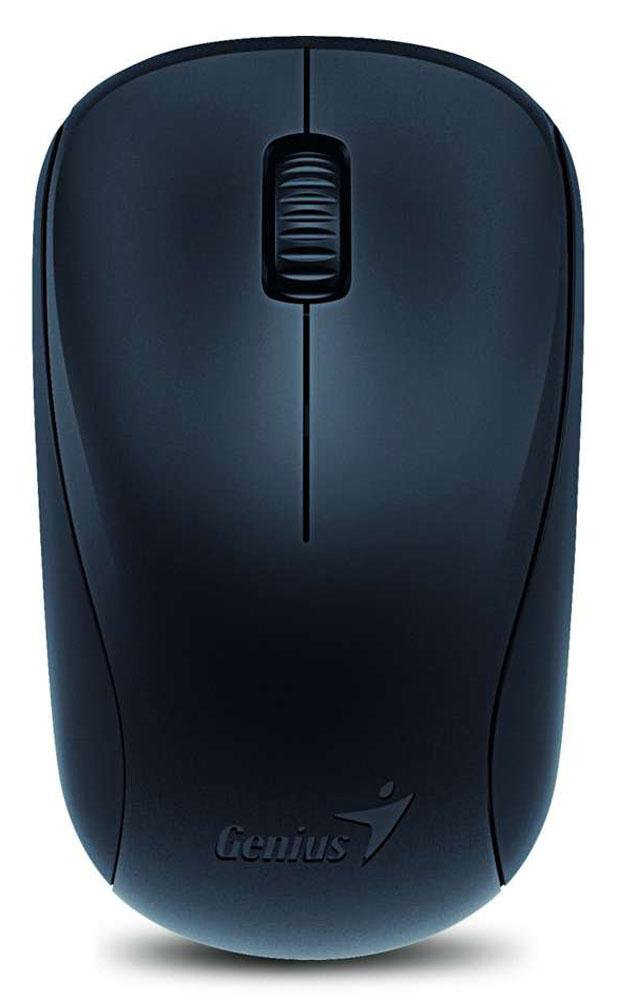Genius NX-7000, Black мышь беспроводная31030109100Genius NX-7000 - это беспроводная мышь черного цвета с 3-мя кнопками, колесом прокрутки и интерфейсом подключения нано-приемника через универсальный USB. Использование технологии BlueEye обеспечивает надежную работу на любых поверхностях. Разрешение оптического датчика, установленного в NX-7000, составляет 1200 точек на дюйм. Форма мыши делает ее одинаково подходящей для правшей и левшей. К компьютеру мышь подключается по радиоканалу на частоте 2,4 ГГц. Соответствующий миниатюрный приемник, подключаемый к порту USB, входит в комплект. Работает устройство от одного элемента питания AA.