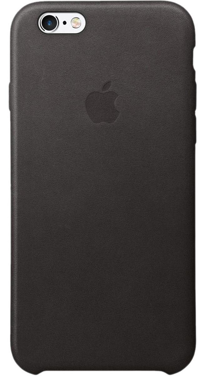 Apple Leather Case чехол для iPhone 6/6s, BlackMKXW2ZM/AРоскошные чехлы из специально обработанной и выделанной кожи европейского производства продуманы теми же дизайнерами Apple, которые работали над iPhone. Каждый чехол идеально облегает телефон, поэтому ваш iPhone 6s или iPhone 6 по-прежнему будет выглядеть невероятно тонким. Мягкая внутренняя поверхность чехла, выполненная из микроволокна, защитит корпус вашего смартфона. А внешняя сторона порадует вас насыщенным оттенком: благодаря специальной технологии краситель проникает глубоко в структуру кожи.