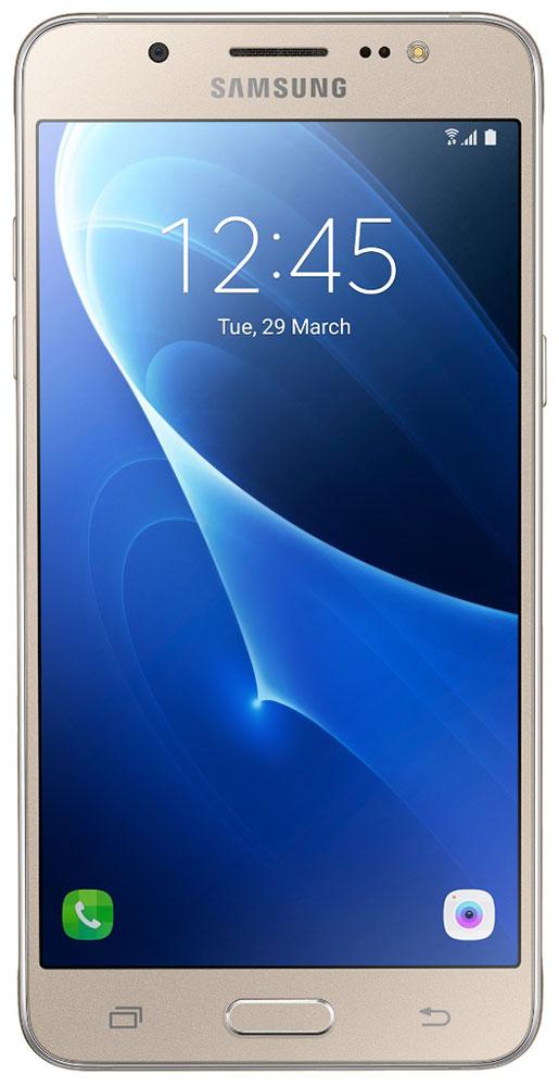 Samsung SM-J510FN Galaxy J5 (2016), GoldSM-J510FZDUSERSamsung SM-J510FN Galaxy J5 отличается элегантным и стильным дизайном, который усиливает впечатление от смартфона. При толщине 7,9 мм и ширине 72 мм, смартфон Samsung Galaxy J5 выглядит более чем изящно, а приятная на ощупь текстура корпуса подчеркивает элегантность формы и ощущение комфорта при использовании смартфона. Аккумулятор с емкостью 3100 мАч позволит оставаться на связи дольше обычного. При отсутствии возможности подзарядки используйте режим максимального энергосбережения. Мощный 4-ядерный процессор Qualcomm MSM8916 и 2 ГБ оперативной памяти обеспечивают мгновенную реакцию смартфона на любые ваши действия. Удобное приложение Smart Manage Простой способ управления основными функциями смартфона: уровень заряда аккумулятора, доступный объем памяти, состояние использования оперативной памяти и безопасность смартфона. Телефон сертифицирован Ростест и имеет русифицированный интерфейс меню, а также...