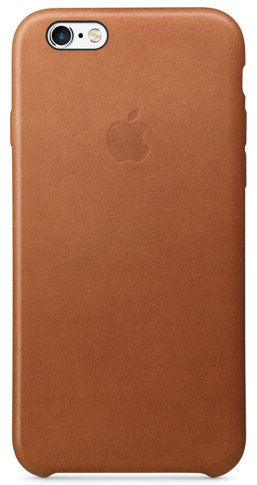 Apple Leather Case чехол для iPhone 6/6s, Saddle BrownMKXT2ZM/AРоскошные чехлы из специально обработанной и выделанной кожи европейского производства продуманы теми же дизайнерами Apple, которые работали над iPhone. Каждый чехол идеально облегает телефон, поэтому ваш iPhone 6s или iPhone 6 по-прежнему будет выглядеть невероятно тонким. Мягкая внутренняя поверхность чехла, выполненная из микроволокна, защитит корпус вашего смартфона. А внешняя сторона порадует вас насыщенным оттенком: благодаря специальной технологии краситель проникает глубоко в структуру кожи.