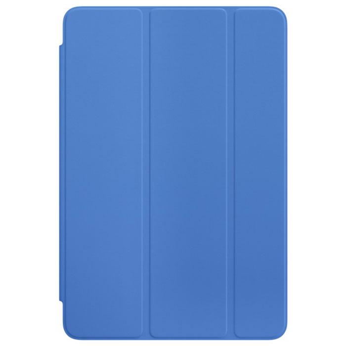 Apple Smart Cover чехол для iPad mini 4, Royal BlueMM2U2ZM/AОбложка Apple Smart Cover для iPad mini 4 создана из цельного листа полиуретана, чтобы защищать переднюю поверхность вашего устройства. Smart Cover автоматически выводит iPad из режима сна при открытии и переводит в режим сна при закрытии. Она складывается различными способами, что позволяет использовать её как подставку для чтения, просмотра фильмов, набора текста или звонков FaceTime. Обложка снимается и надевается очень легко - в любой момент.