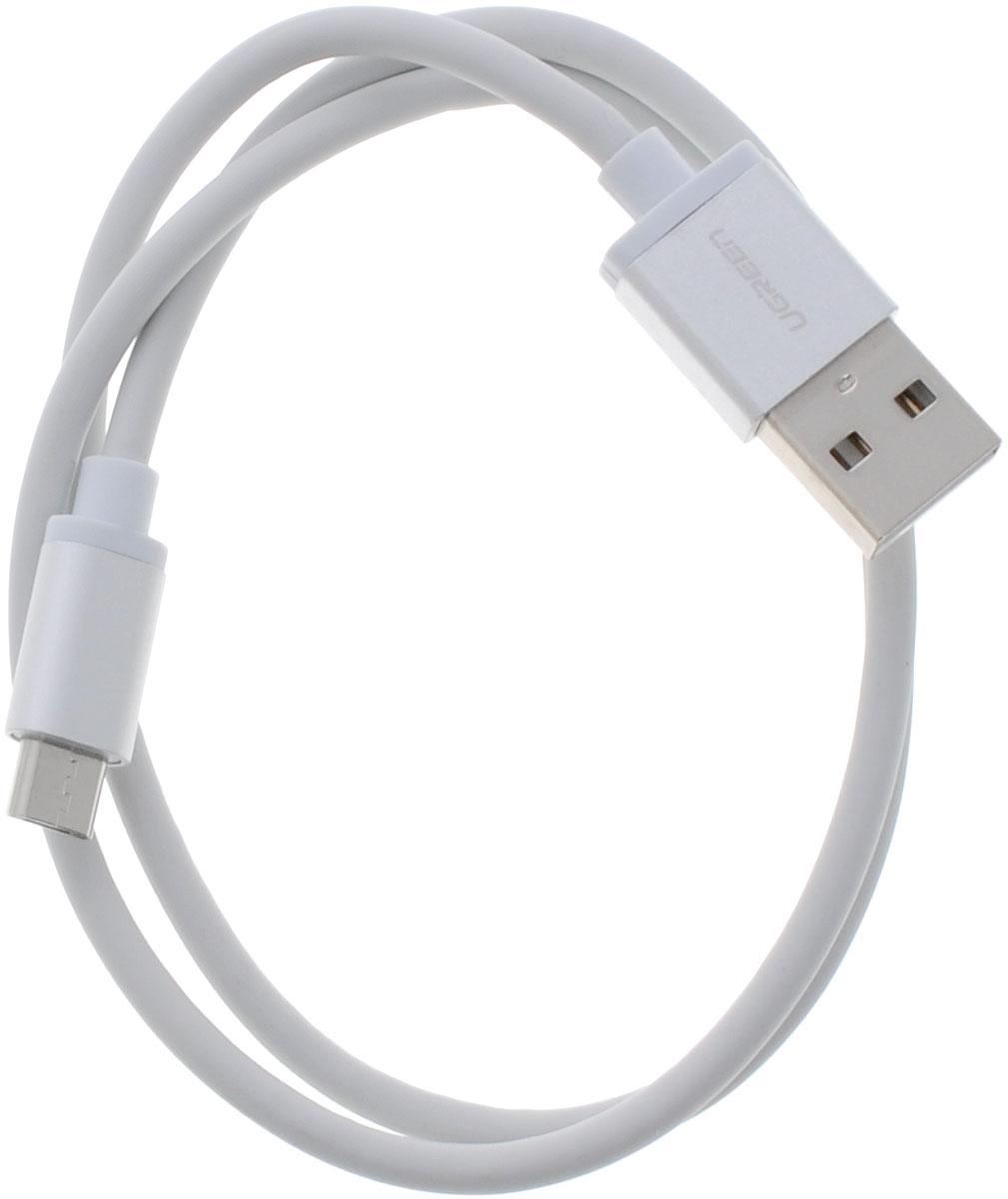 Ugreen UG-10828, White Silver кабель microUSB-USB 0.5 м