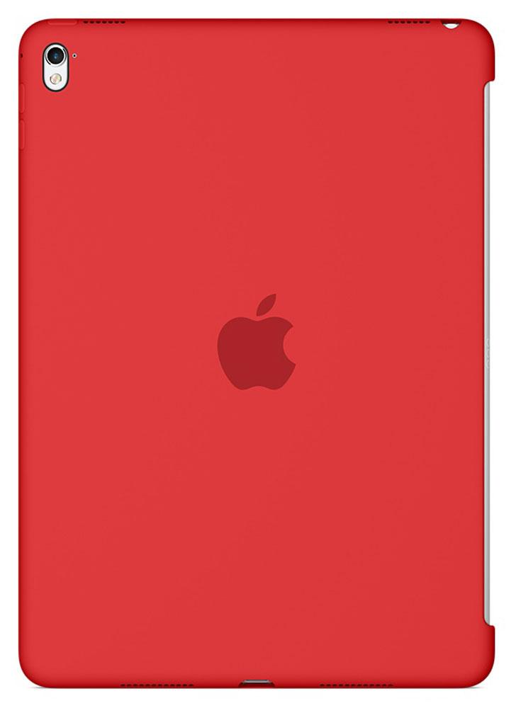 Apple Silicone Case чехол для iPad Pro 9.7, RedMM222ZM/AСиликоновый чехол от Apple закрывает заднюю поверхность вашего iPad Pro и плотно прилегает к кнопкам, не делая его толще. Мягкая внутренняя поверхность из микроволокна защищает устройство, а гладкий силикон очень приятен на ощупь. Чехол идеально совместим с новой клавиатурой Smart Keyboard и обложкой Smart Cover. Ваш iPad Pro защищён со всех сторон.