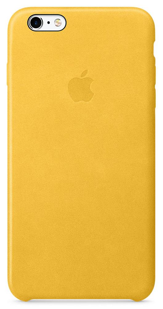 Apple Leather Case чехол для iPhone 6s Plus, MarigoldMMM32ZM/AApple Leather Case - роскошный чехол, изготовленный из специально обработанной и выделанной кожи европейского производства и спроектированный теми же дизайнерами Apple, которые работали над iPhone. Каждый чехол идеально облегает телефон, поэтому ваш iPhone 6s Plus или iPhone 6 Plus по-прежнему будет выглядеть невероятно тонким. Мягкая внутренняя поверхность чехла, выполненная из микроволокна, защитит корпус вашего iPhone. А его внешняя сторона порадует вас глубоким оттенком: специальная технология окраски позволяет цвету буквально проникать в структуру кожи.