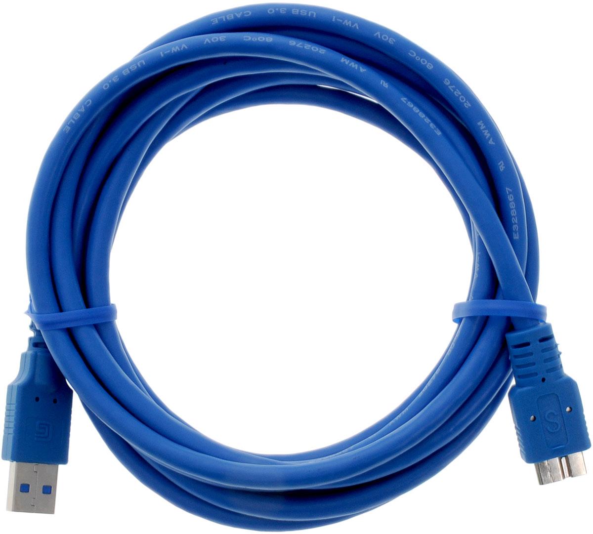 Greenconnect Premium GC-U3A03, Blue кабель microUSB 3.0-USB 3.0 (3 м)GC-U3A03-3mКабель Greenconnect Premium GC-U3A03 используется для подключения к персональному компьютеру или ноутбуку внешнего жесткого диска, Blu-Ray и другого оборудования имеющего разъем microUSB 3.0. Скорость передачи данных: до 5 Гбит Обратная совместимость с USB 2.0/1.1