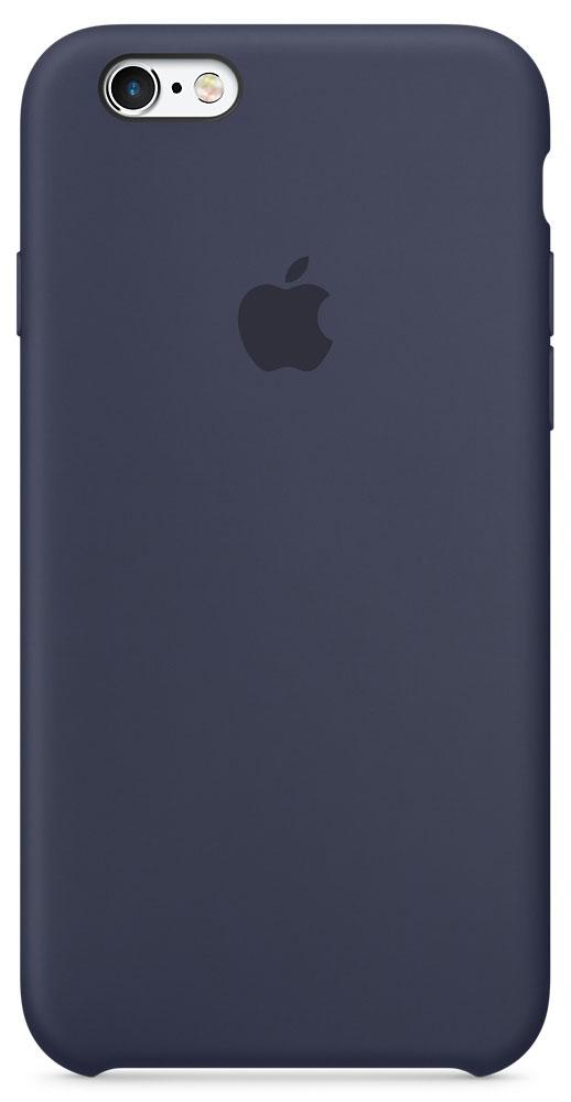 Apple Silicone Case чехол для iPhone 6/6s, Midnight BlueMKY22ZM/AApple Silicone Case создали те же дизайнеры Apple, которые тщательно продумывали каждую деталь iPhone. Силиконовые чехлы плотно прилегают к кнопкам управления громкостью и режима сна. Они точно повторяют контуры iPhone 6s и iPhone 6, поэтому телефон остаётся тонким. Мягкая внутренняя поверхность чехла, выполненная из микроволокна, защитит корпус вашего iPhone. А внешняя силиконовая поверхность очень приятна на ощупь.