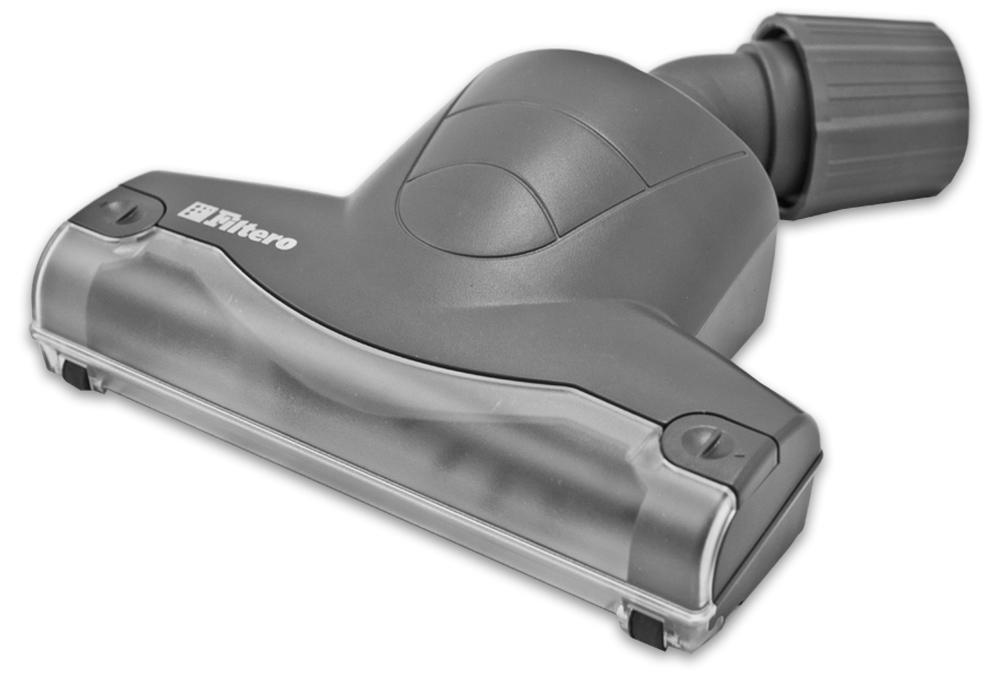 Filtero FTN 21 насадка для пылесосовFTN 21Турбо-щетка Filtero FTN 21 разработана для более эффективной уборки ковровых покрытий и мягкой мебели. Она расчесывает ворс, удаляя пыль и грязь из глубины ковра. Благодаря наличию съемного козырька обеспечивается простота чистки вращающегося вала. Эффективная конструкция турбины позволяет использовать ее с любыми, даже маломощными пылесосами. Съемная крышка снизу корпуса позволяет осуществлять очистку турбины от попавших предметов и крупного мусора. Обеспечивает возможность использования насадки с большинством пылесосов известных марок, с диаметром удлинительной трубки 30-37 мм.