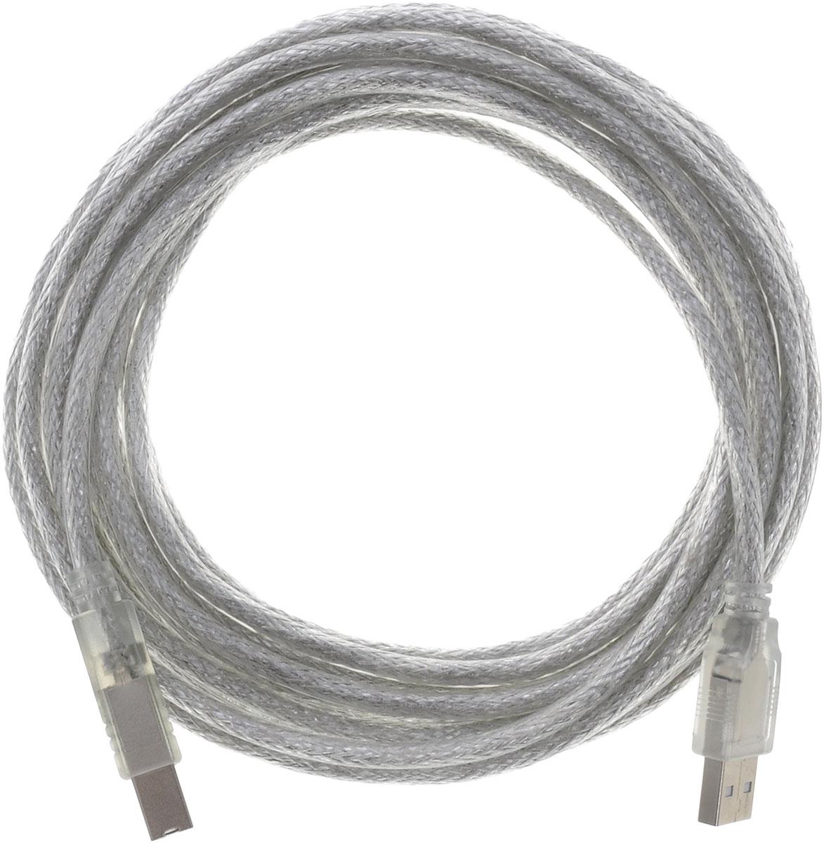 Greenconnect Premium GCR-UPC2M-BD2S, Clear кабель USB 5.0 м
