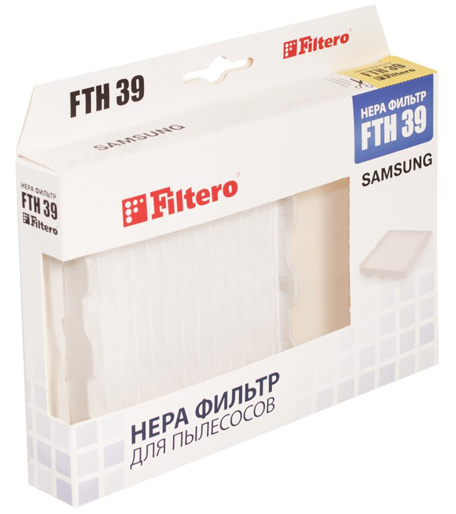 Filtero FTH 39 фильтр для пылесосов SamsungFTH 39Немоющийся фильтр Filtero FTH 05 имеет уровень фильтрации НЕРА Н 10. Он препятствует выходу мельчайших частиц пыли и аллергенов из пылесоса в помещение. Подлежит замене, согласно рекомендации производителя пылесосов - не реже одного раза за 6 месяцев.