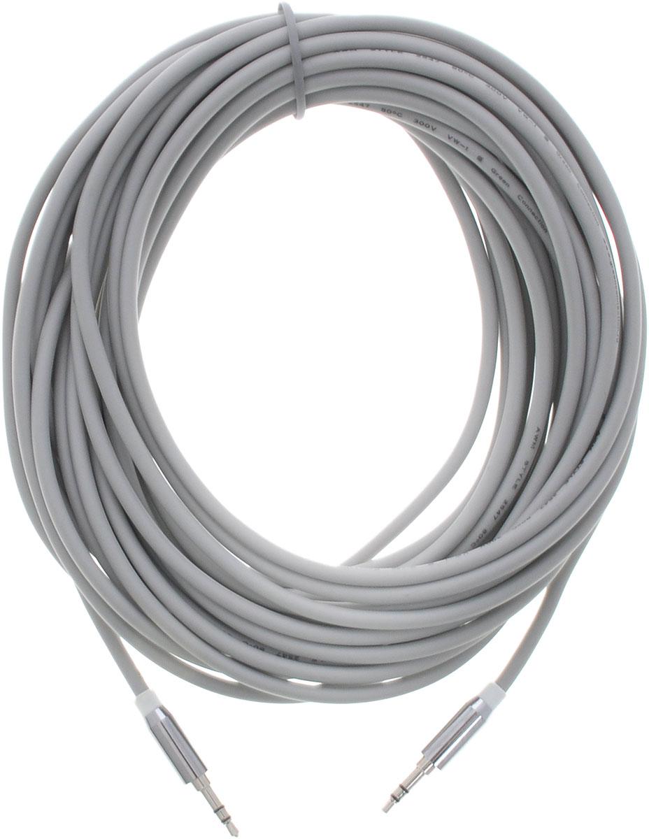Greenconnect GC-AVC09, White Silver кабель AUX 8 мGC-AVC09-8mGreenconnect GC-AVC09 - аудио-кабель, который поможет вам ни на секунду не расставаться с музыкой. Он соединит ваш телефон или плеер с аудиосистемой автомобиля, с аудио разъёмом компьютера или ноутбука, с портативной колонкой. Главное отличие аудиокабеля - мягкая оболочка и стильные металлические соединители. Прекрасное качество исполнения и экранирование позволит избежать влияния помех при передаче сигнала.