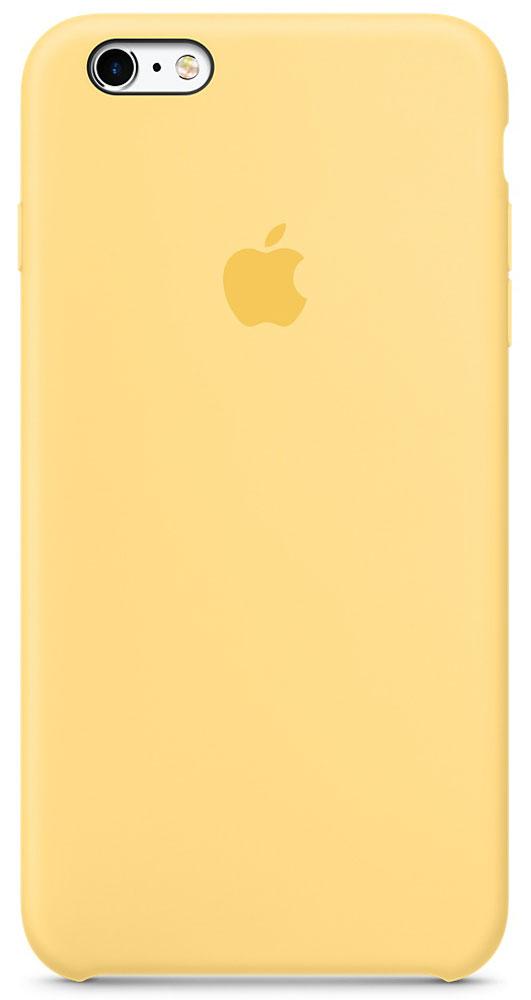 Apple Silicone Case чехол для iPhone 6 Plus/6s Plus, YellowMM6H2ZM/AApple Silicone Case создали те же дизайнеры Apple, которые тщательно продумывали каждую деталь iPhone. Силиконовые чехлы плотно прилегают к кнопкам управления громкостью и режима сна. Они точно повторяют контуры iPhone 6s Plus и iPhone 6 Plus, поэтому телефон остаётся тонким. Мягкая внутренняя поверхность чехла, выполненная из микроволокна, защитит корпус вашего iPhone. А внешняя силиконовая поверхность очень приятна на ощупь.