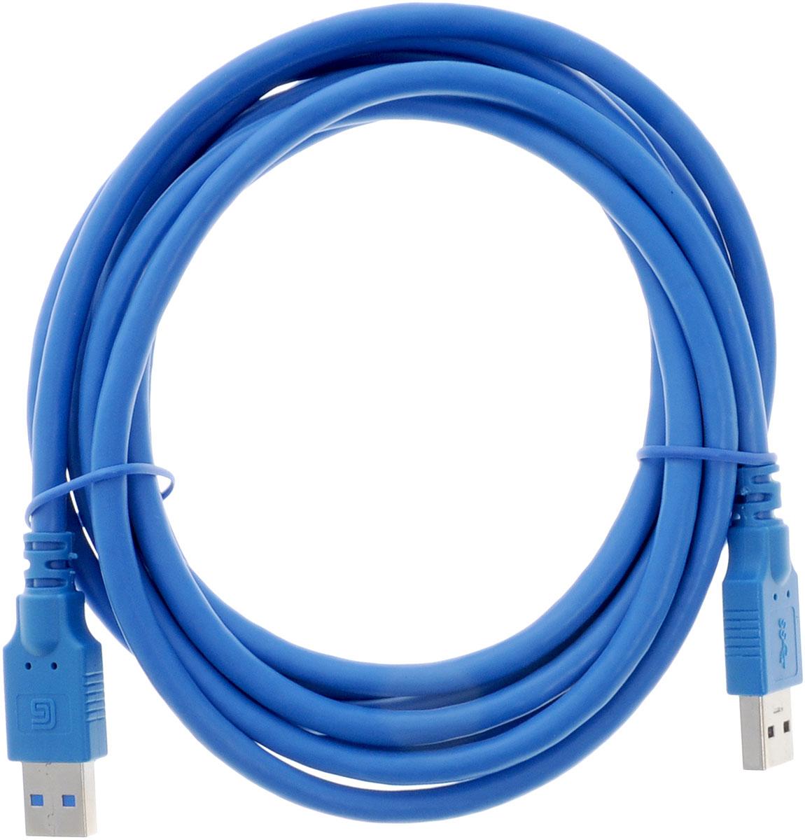 Greenconnect Premium GC-U3A01, Blue кабель USB 3 мGC-U3A01-3mКабель Greenconnect Premium GC-U3A01 используется для соединения ПК или ноутбука с периферийными устройствами: HD-DVD, принтер, внешний жесткий диск, Blu-ray и другими. Кабель имеет двойное экранирование (сочетание фольгированной и общей оплетки), что позволяет защитить сигнал при передаче от влияния внешних полей, способных создать помехи. Скорость передачи данных: до 5 Гбит Тип оболочки: PVC (ПВХ) Совместимость: USB 3.0/2.0/1.1