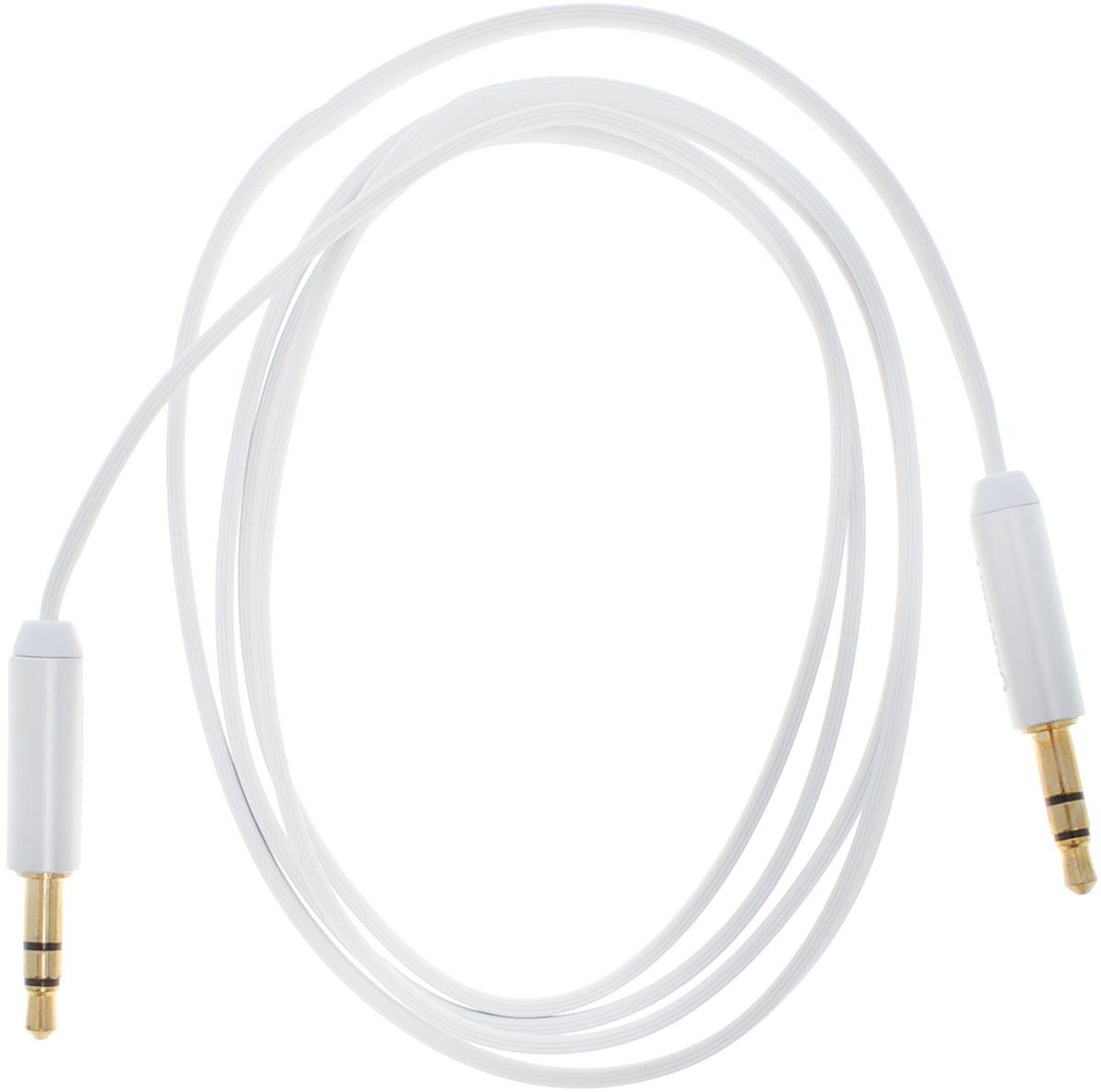 Ugreen UG-10763, White Silver кабель AUX 1 мUG-10763Кабель Ugreen UG-10763 может быть использован для подключения, например, гарнитуры с MP3-плеером, компьютера, DVD, TV, радио, CD плеер в которых есть данный аудиоразъем. Главное отличие этого аудио кабеля - мягкая оболочка и стильные металлические соединители. Прекрасное качество исполнения и экранирование позволит избежать влияния помех при передаче сигнала. Толщина кабеля: 1,5 х 3,5 мм Тип оболочки: ПВХ