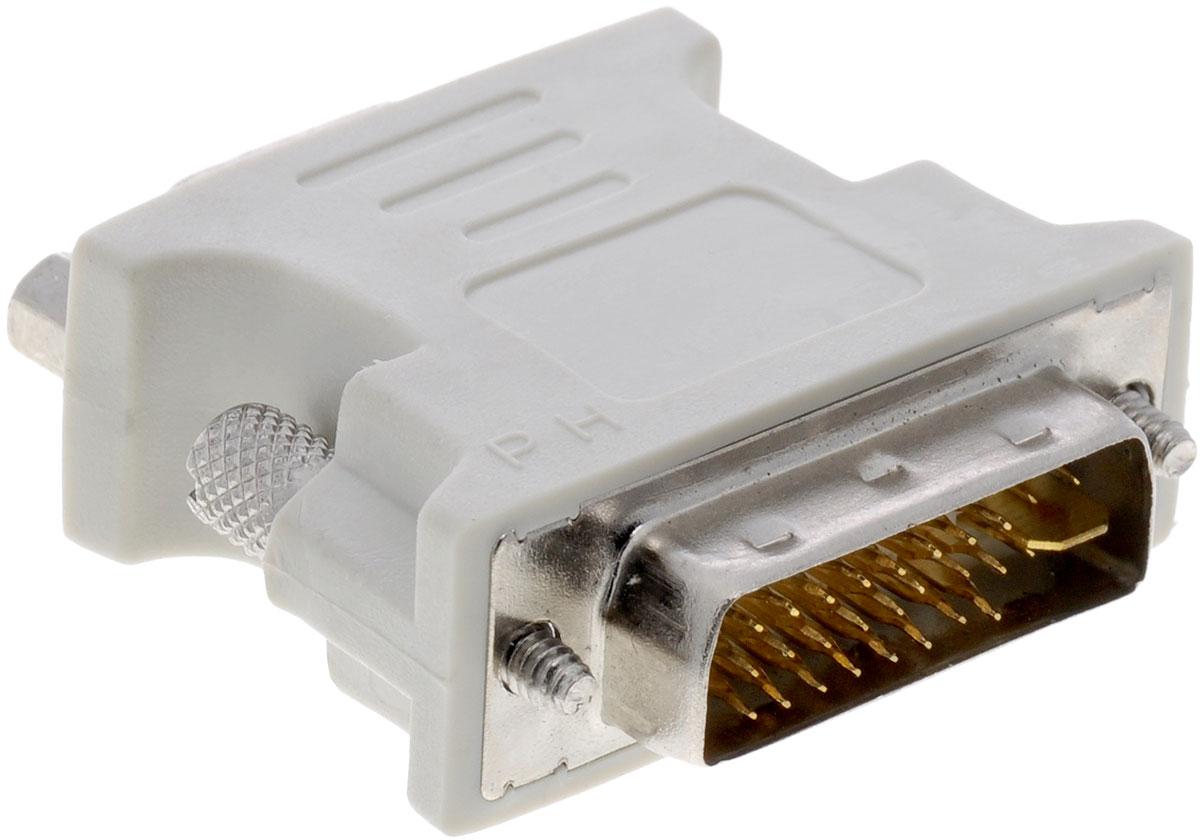 Greenconnect GC-CV103, White адаптер-переходник DVI-VGAGC-CV103Адаптер-переходник Greenconnect GC-CV103 позволяет подключать DVI устройства с помощью VGA кабеля к VGA монитору или проектору.