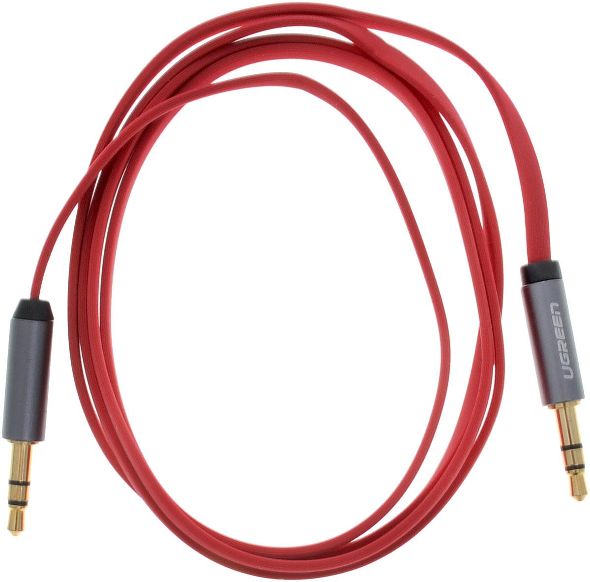 Ugreen UG-10792, Red Silver кабель AUX 1 м
