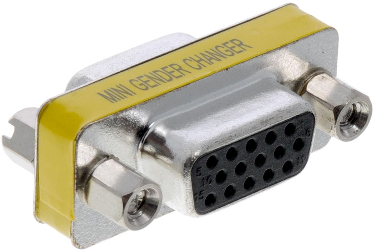 Greenconnect GC-CV201, Silver адаптер-переходник VGA-VGAGC-CV201Адаптер-переходник Greenconnect GC-CV201 предназначен для преобразования штекера VGA в гнездо VGA. Это позволяет подключать два куска кабеля VGA M, чтобы сделать более длинный кабель.