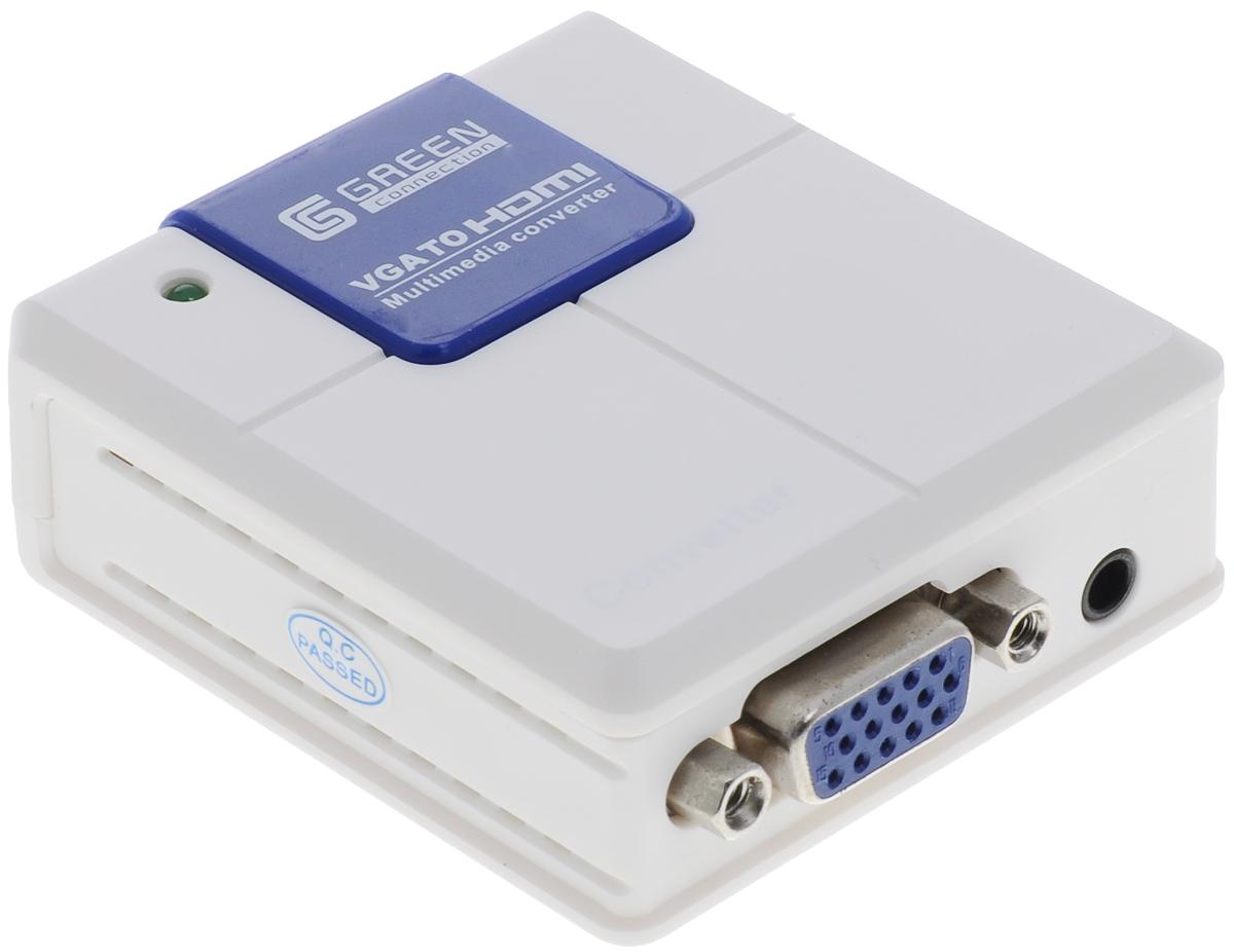 Greenconnect GC-VGA2HD02, White конвертер-переходник VGA