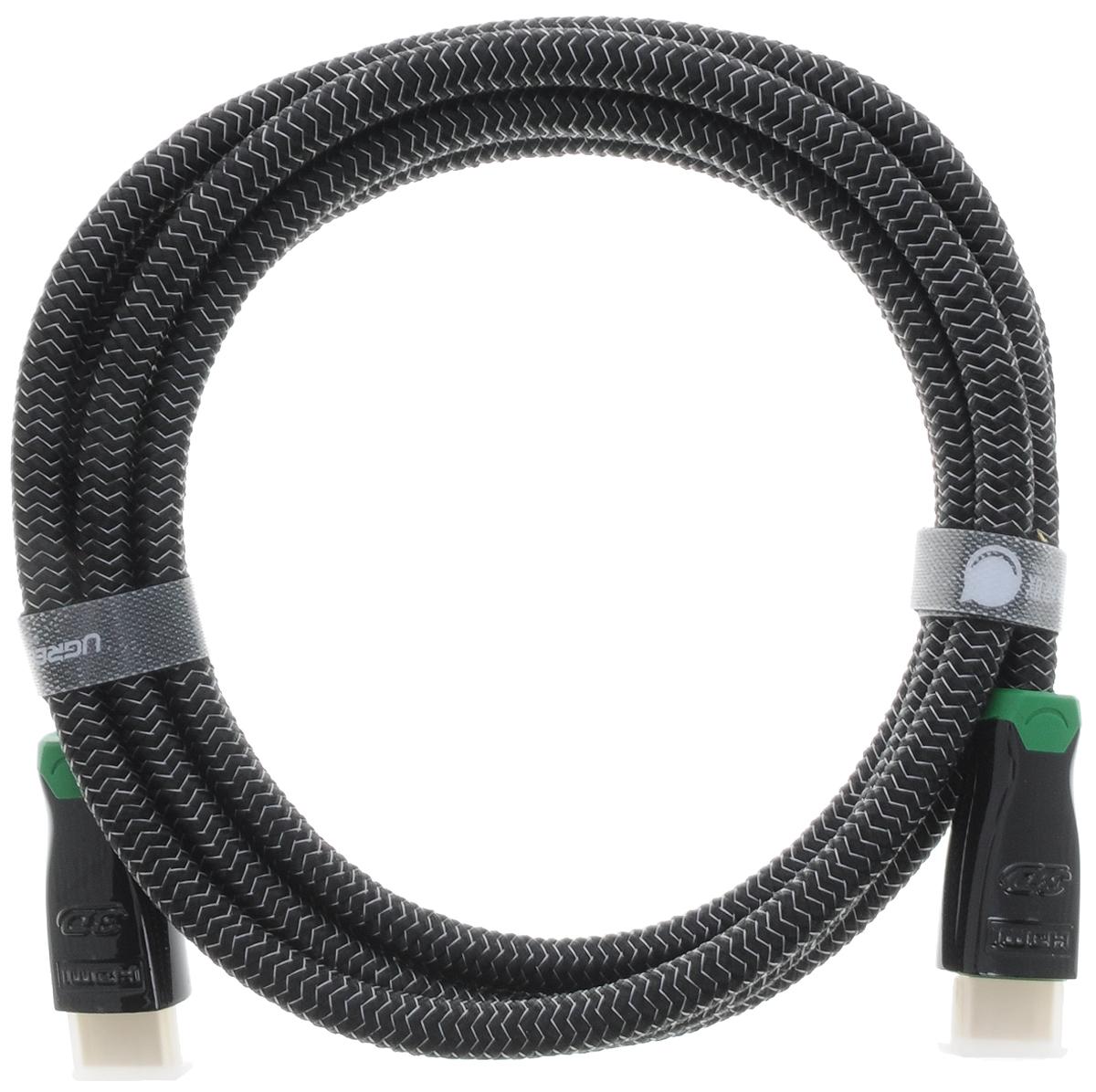Ugreen UG-10292, Black Green кабель HDMI 2 мUG-10292Кабель HDMI Ugreen UG-10292 предназначается для передачи цифровых видеоданных с высоким разрешением и многоканальных цифровых аудиосигналов с дальнейшей защитой от копирования. Обеспечение соединения при помощи разъема HDMI нескольким устройствам делает этот интерфейс незаменимым. Скорость передачи данных до 10,2 Гбит/с Толщина кабеля: 8 мм Экранирование