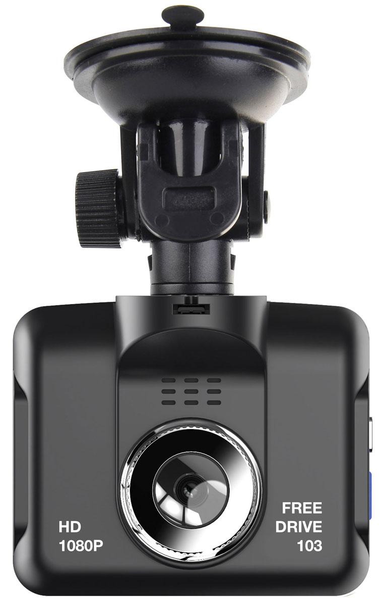 Digma FreeDrive 103, Black видеорегистраторFD103Видеорегистратор Digma FreeDrive 103 отличается удобной конструкцией: все кнопки управления вынесены на боковые панели, а на тыльной стороне расположен цветной ЖК-дисплей диагональю 2,8 дюйма. Данная модель оснащена широкоугольным объективом (с углом обзора 110°), динамиком и микрофоном, что гарантирует запись полной картины в любой дорожной ситуации. Регистратор Digma FreeDrive 103 записывает видео в HD-качестве (1080p) и оборудован датчиком G-Shock, который поможет сохранить ценную запись в случае ДТП. Поддержка карт памяти формата SD и объемом до 32 ГБ обеспечивает бесперебойную съемку и дальнейшее хранение файлов. Видеорегистратор питается от автомобильного прикуривателя или встроенного резервного аккумулятора емкостью 140 мАч. Процессор: STK4580
