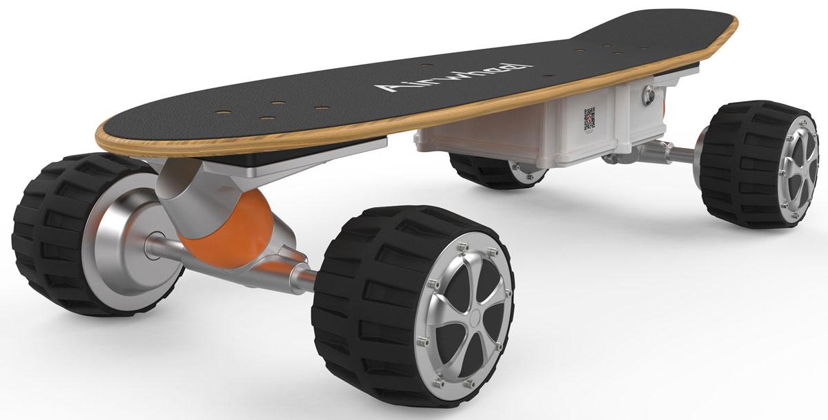 Airwheel M3, Black двухколесный гироцикл (батарея Samsung 162,8 Вт/ч)AIRWHEEL M3-162.8Электрический скейтборд с пультом дистанционного управления. Амортизирующие колёса Бесщёточный двигатель Двойная защита батареи Дистанционное управление Bluetooth Материал корпуса: Металл; Пластик
