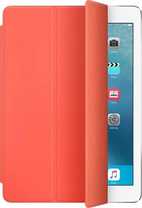 Apple Smart Cover чехол для iPad Pro 9.7, ApricotMM2H2ZM/AОбложка Apple Smart Cover для iPad Pro 9.7 создана из цельного листа полиуретана, чтобы защищать переднюю поверхность вашего устройства. Smart Cover автоматически выводит iPad из режима сна при открытии и переводит в режим сна при закрытии. Она складывается различными способами, что позволяет использовать её как подставку для чтения, просмотра фильмов, набора текста или звонков FaceTime. Обложка снимается и надевается очень легко - в любой момент.