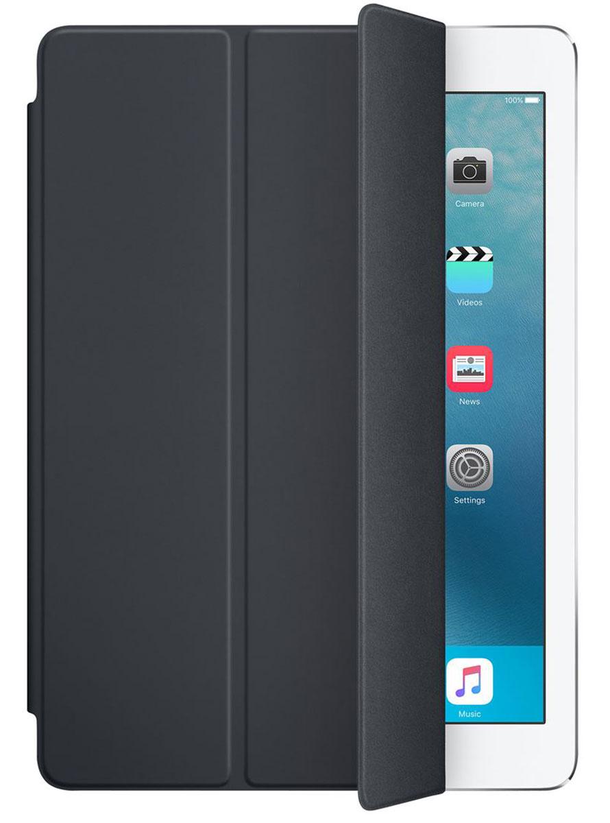 Apple Smart Cover чехол для iPad Pro 9.7, Charcoal GreyMM292ZM/AОбложка Apple Smart Cover для iPad Pro 9.7 создана из цельного листа полиуретана, чтобы защищать переднюю поверхность вашего устройства. Smart Cover автоматически выводит iPad из режима сна при открытии и переводит в режим сна при закрытии. Она складывается различными способами, что позволяет использовать её как подставку для чтения, просмотра фильмов, набора текста или звонков FaceTime. Обложка снимается и надевается очень легко - в любой момент.