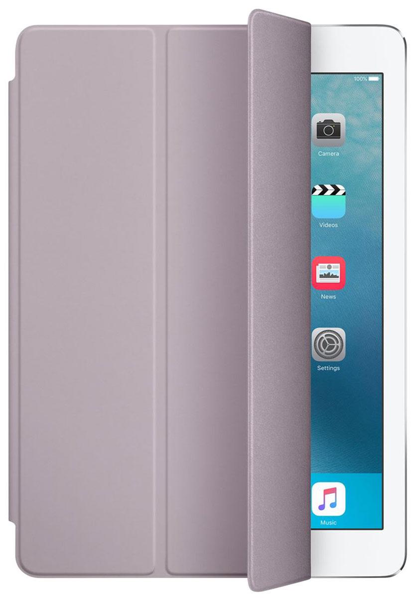 Apple Smart Cover чехол для iPad Pro 9.7, LavenderMM2J2ZM/AОбложка Apple Smart Cover для iPad Pro 9.7 создана из цельного листа полиуретана, чтобы защищать переднюю поверхность вашего устройства. Smart Cover автоматически выводит iPad из режима сна при открытии и переводит в режим сна при закрытии. Она складывается различными способами, что позволяет использовать её как подставку для чтения, просмотра фильмов, набора текста или звонков FaceTime. Обложка снимается и надевается очень легко - в любой момент.