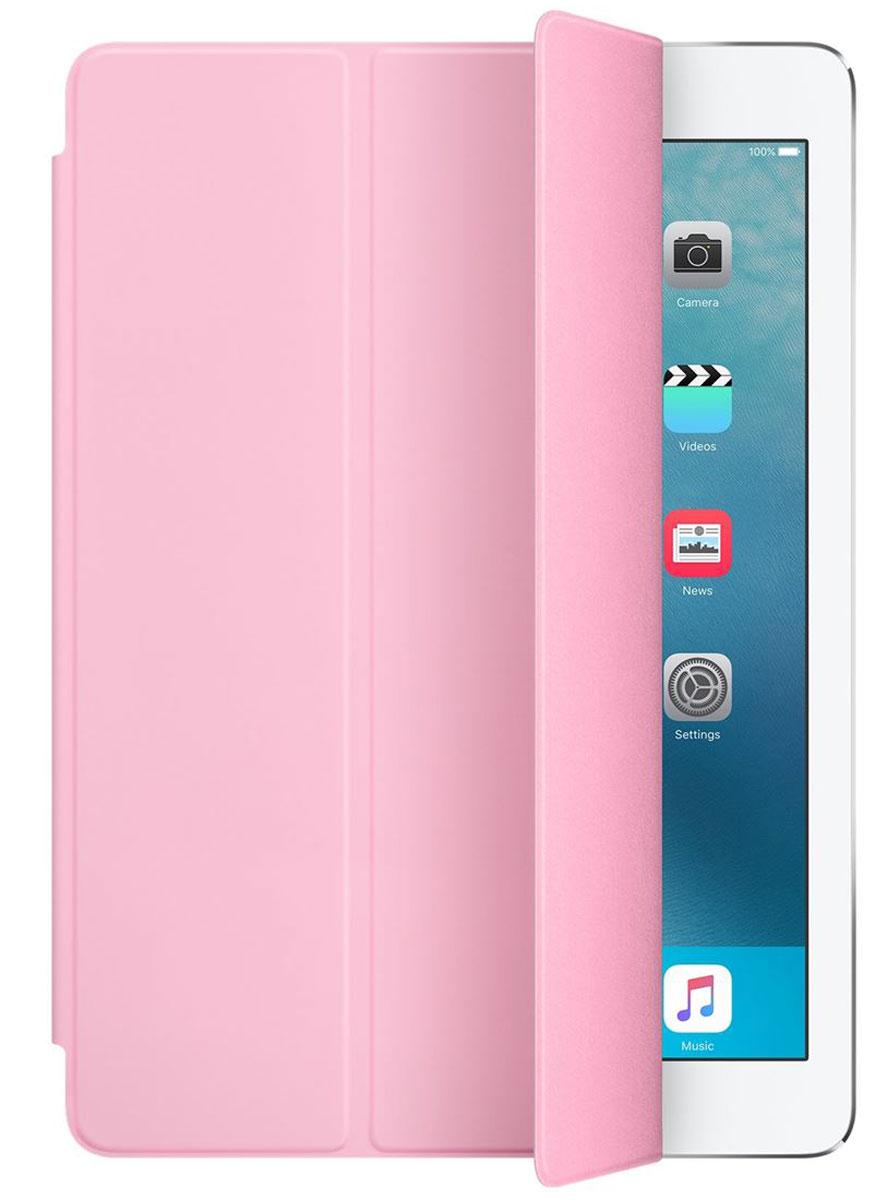 Apple Smart Cover чехол для iPad Pro 9.7, Light PinkMM2F2ZM/AОбложка Apple Smart Cover для iPad Pro 9.7 создана из цельного листа полиуретана, чтобы защищать переднюю поверхность вашего устройства. Smart Cover автоматически выводит iPad из режима сна при открытии и переводит в режим сна при закрытии. Она складывается различными способами, что позволяет использовать её как подставку для чтения, просмотра фильмов, набора текста или звонков FaceTime. Обложка снимается и надевается очень легко - в любой момент.