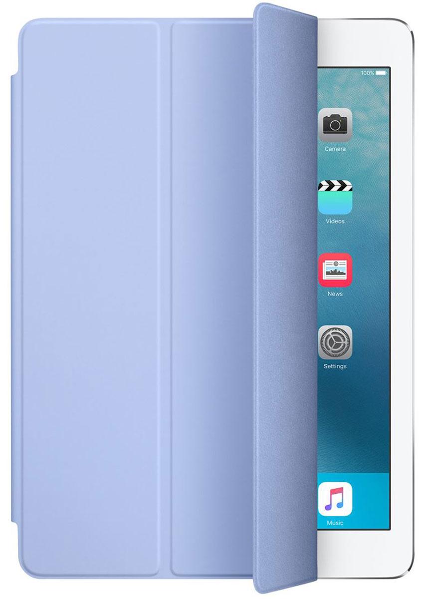 Apple Smart Cover чехол для iPad Pro 9.7, LilacMMG72ZM/AОбложка Apple Smart Cover для iPad Pro 9.7 создана из цельного листа полиуретана, чтобы защищать переднюю поверхность вашего устройства. Smart Cover автоматически выводит iPad из режима сна при открытии и переводит в режим сна при закрытии. Она складывается различными способами, что позволяет использовать её как подставку для чтения, просмотра фильмов, набора текста или звонков FaceTime. Обложка снимается и надевается очень легко - в любой момент.