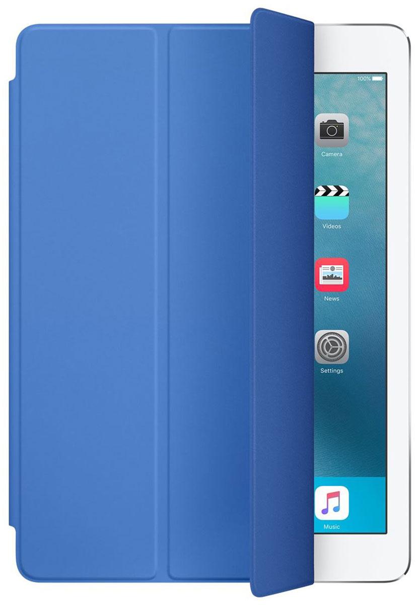 Apple Smart Cover чехол для iPad Pro 9.7, Royal BlueMM2G2ZM/AОбложка Apple Smart Cover для iPad Pro 9.7 создана из цельного листа полиуретана, чтобы защищать переднюю поверхность вашего устройства. Smart Cover автоматически выводит iPad из режима сна при открытии и переводит в режим сна при закрытии. Она складывается различными способами, что позволяет использовать её как подставку для чтения, просмотра фильмов, набора текста или звонков FaceTime. Обложка снимается и надевается очень легко - в любой момент.