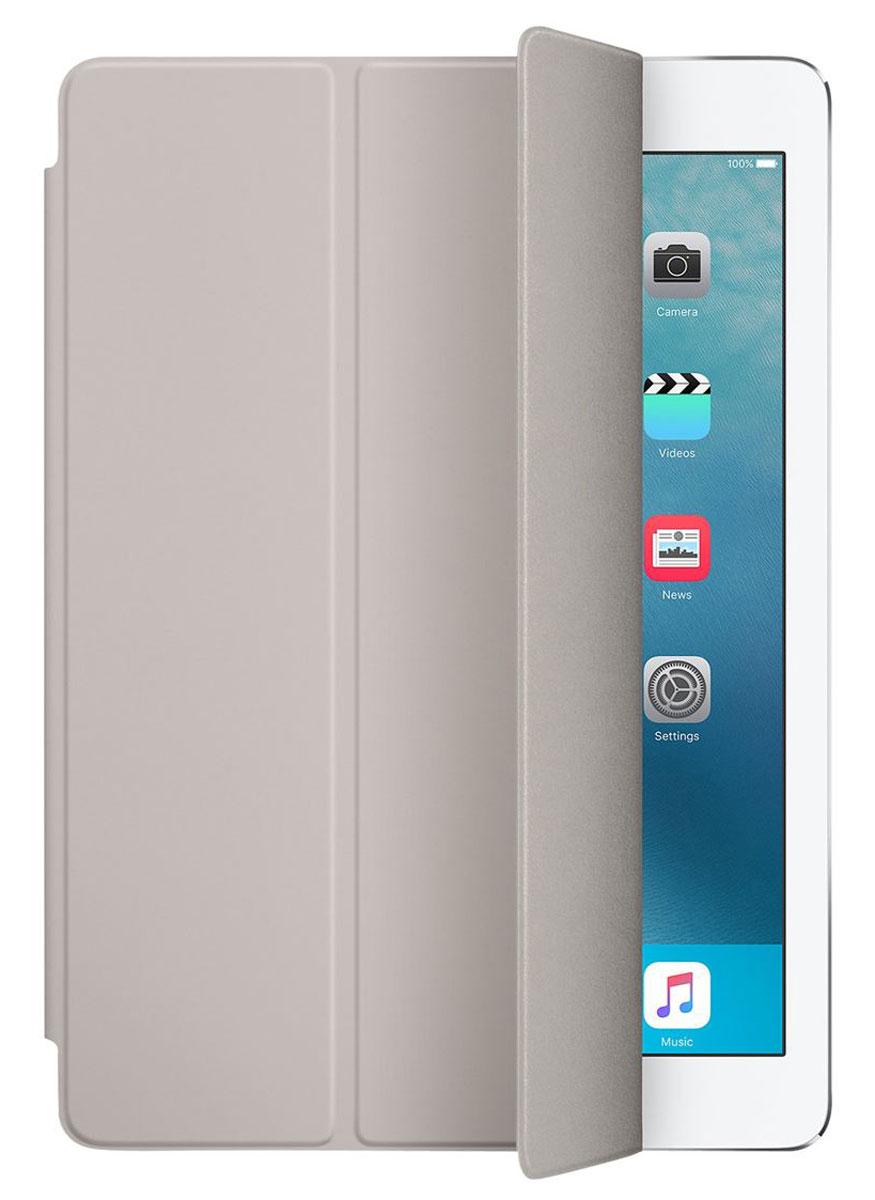 Apple Smart Cover чехол для iPad Pro 9.7, StoneMM2E2ZM/AОбложка Apple Smart Cover для iPad Pro 9.7 создана из цельного листа полиуретана, чтобы защищать переднюю поверхность вашего устройства. Smart Cover автоматически выводит iPad из режима сна при открытии и переводит в режим сна при закрытии. Она складывается различными способами, что позволяет использовать её как подставку для чтения, просмотра фильмов, набора текста или звонков FaceTime. Обложка снимается и надевается очень легко - в любой момент.