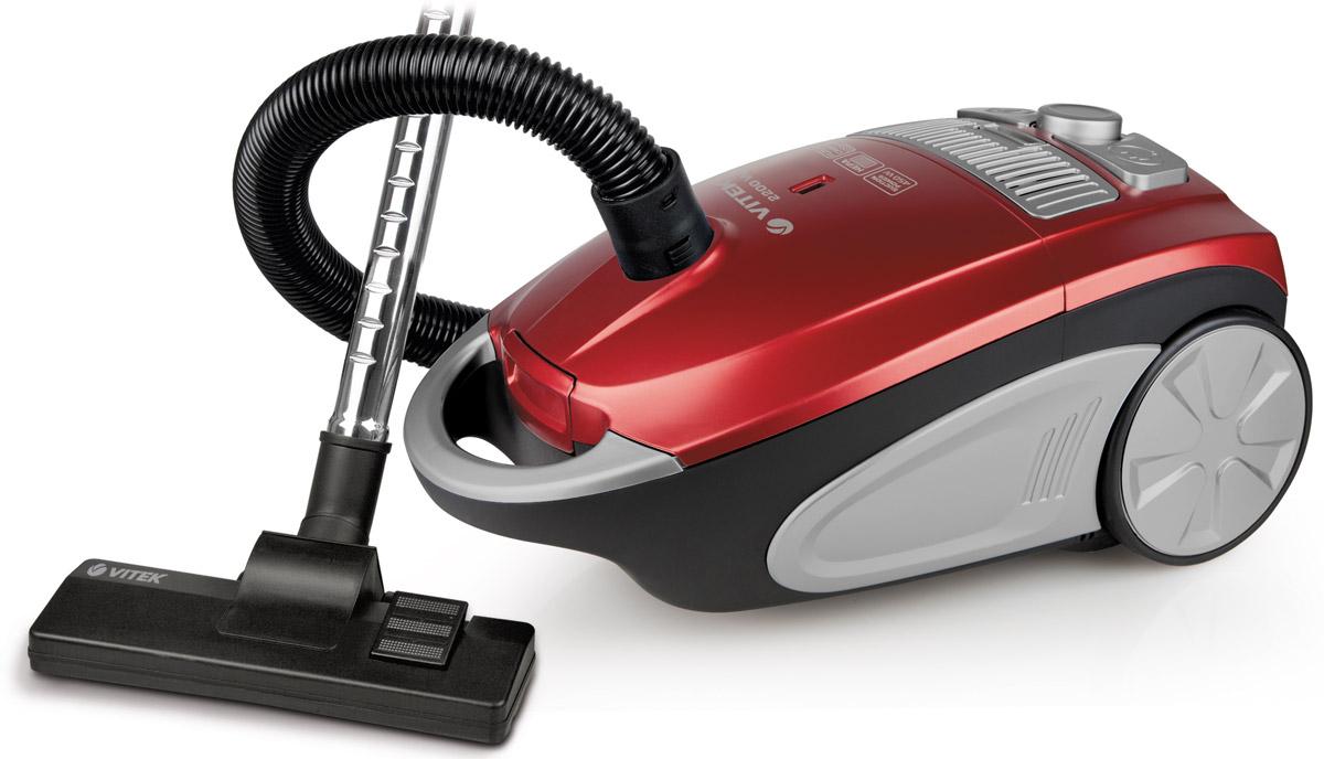 Vitek VT-1892(R) пылесосVT-1892(R)Vitek VT-1892(B) - пылесос, который отлично справится с поддержанием чистоты в жилом помещении. Данная модель имеет прекрасную мощность всасывания и очень проста в эксплуатации. Пылесос оснащен съёмным пылесборником, который при необходимости можно достать и очистить. Силу всасывания можно регулировать, шнур сматывается после отключения прибора и нажатия на кнопку. На корпусе есть индикатор заполнения ёмкости пылью. В Vitek VT-1892(B) предусмотрен фильтр, который задерживает частицы загрязнений любого размера, нередко приводящие к развитию заболеваний. Для такого пылесоса не составит труда очистить от загрязнений ковёр или мягкую мебель.