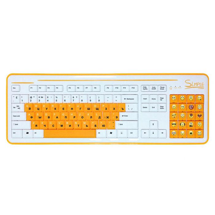 CBR Simple S8, White клавиатураS8 WhiteКлавиатура CBR Simple S8 станет отличным решением для активных пользователей интернет-мессенджеров и социальных сетей. S8 облегчает общение благодаря тому, что вместо цифрового поля справа, на ней располагается блок специальных клавиш. Каждая клавиша блока представляет собой тот или иной смайлик, что освобождает от набора на основной клавиатуре сложных комбинаций или выбора нужного эмотикона из списка используемой программы. Пользователь такого гаджета сможет одним нажатием кнопки выразить необходимую эмоцию. С помощью этой клавиатуры у пользователя будет в распоряжении 20 различных смайлов. Новое устройство ввода совместимо с различными операционными системами, и может поддерживать многие приложения, такие как qip, skype, icq, одноклассники и большое количество других. При необходимости смайлы легко отключаются одним нажатием кнопки, и блок смайлов работает стандартном варианте Num Lock. Цифры при этом нанесены на боковую грань клавиш. Клавиатура дополнена функцией...