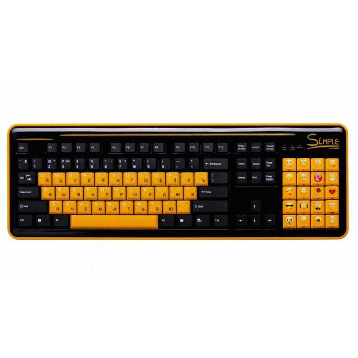 CBR Simple S8, Black клавиатураS8 BlackКлавиатура CBR Simple S8 станет отличным решением для активных пользователей интернет-мессенджеров и социальных сетей. S8 облегчает общение благодаря тому, что вместо цифрового поля справа, на ней располагается блок специальных клавиш. Каждая клавиша блока представляет собой тот или иной смайлик, что освобождает от набора на основной клавиатуре сложных комбинаций или выбора нужного эмотикона из списка используемой программы. Пользователь такого гаджета сможет одним нажатием кнопки выразить необходимую эмоцию. С помощью этой клавиатуры у пользователя будет в распоряжении 20 различных смайлов. Новое устройство ввода совместимо с различными операционными системами, и может поддерживать многие приложения, такие как qip, skype, icq, одноклассники и большое количество других. При необходимости смайлы легко отключаются одним нажатием кнопки, и блок смайлов работает стандартном варианте Num Lock. Цифры при этом нанесены на боковую грань клавиш. Клавиатура дополнена функцией...