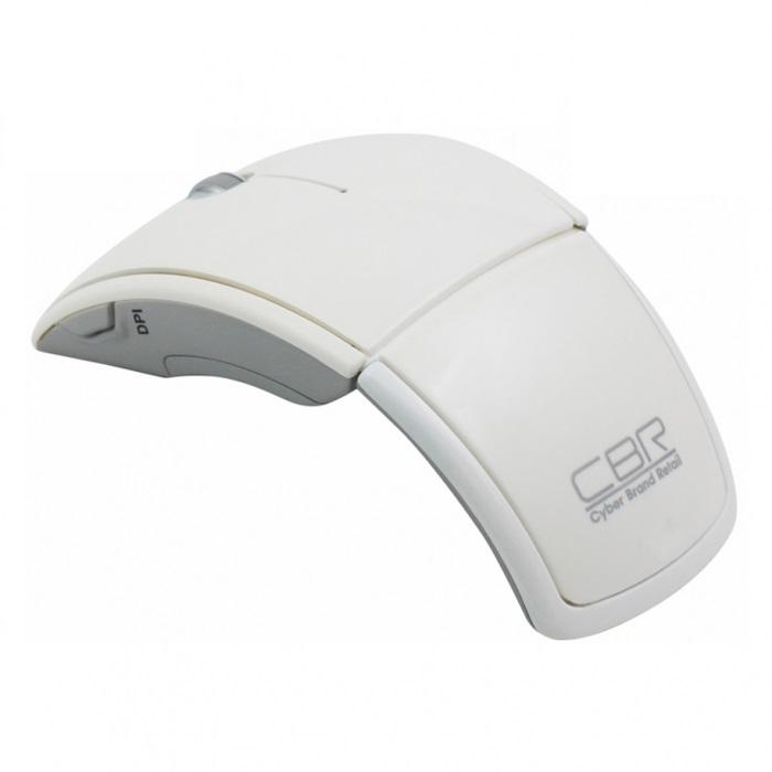 CBR CM 610, White мышьCM 610 WhiteСтильная и компактная беспроводная оптическая мышь CBR CM 610 с компактным USB-приемником, который удобно располагается в самой мыши. Рабочий радиус модели составляет 15 метров при исключительно длительном ресурсе батарей, благодаря новейшей технологии энергосбережения. Оптический датчик Аgilent sensor позволяет правильно и точно отслеживать перемещение курсора практически на любой поверхности. Кнопка DPI, расположенная сбоку, позволяет самостоятельно выбрать чувствительность мыши - 800, 1200 или 1600 точек на дюйм. Эргономичный дизайн мыши CBR CM 610 обеспечивает комфортную работу на протяжении многих часов, а за счет складного механизма она займет совсем мало места в портфеле или сумке. Для начала работы просто подключите приемник CBR CM 610 к USB-порту компьютера или ноутбука, без установки дополнительного программного обеспечения и драйверов.