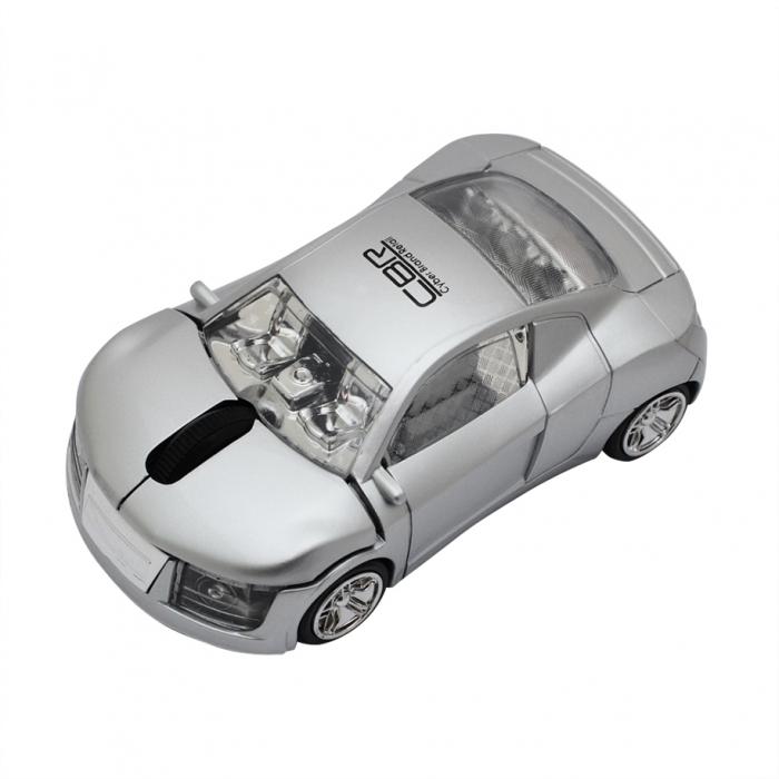 CBR MF 500 Cosmic, Silver мышьMF 500 Cosmic SilverКомпьютерный манипулятор CBR MF 500 Cosmic выполнен в виде шикарного гоночного автомобиля. Болид работает на частоте 2,4 ГГц, и требует для заправки всего одну батарейку типа ААА. В нижней части капота модель имеет удобный разъем для удобного размещения донгла, что минимизирует шансы потери его при частых поездках. Управление скоростным болидом осуществляется с помощью двух кнопок и колеса прокрутки с функцией нажатия. Манипулятор способен рассекать ваш рабочий стол со скоростью 1000 dpi. Миниатюрные размеры модели удобно разместятся в ладони любого размера.