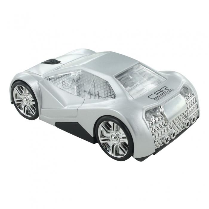 CBR MF 500 Elegance, Silver мышьMF 500 Elegance SilverМодель CBR MF 500 Elegance покорит ваше сердце своими четкими линиями, глянцевой поверхностью и необычным дизайном. Корпус автомобиля выполнен в футуристическом дизайне. Хромированные диски, узор на стеклах, обширные фары, серебристый салон и брутальный багажник - эта модель создана для решительных и динамичных людей. Управлять такой красивой мышью особенно приятно и главное - удобно. Модель имеет приятный размер, который подойдет для ладони любого размера. Как и всякая современная компьютерная мышь, оптическая мышь CBR MF 500 Elegance оснащена колесиком прокрутки и не требует драйверов при подключении к компьютеру. Модель имитирует движение автомобиля за счет подвижных колес и отсутствия проводов. Оптический сенсор и разрешение в 1000 dpi обеспечивают хорошей скоростью и точностью отклика.