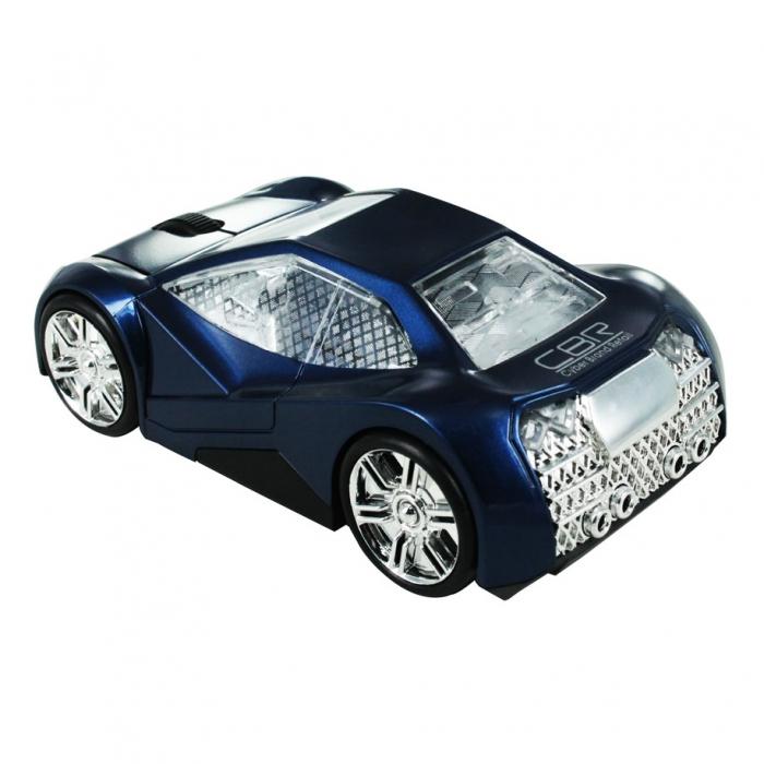 CBR MF 500 Elegance, Blue мышьMF 500 Elegance BlueМодель CBR MF 500 Elegance покорит ваше сердце своими четкими линиями, глянцевой поверхностью и необычным дизайном. Корпус автомобиля выполнен в футуристическом дизайне. Хромированные диски, узор на стеклах, обширные фары, серебристый салон и брутальный багажник – эта модель создана для решительных и динамичных людей. Управлять такой красивой мышью особенно приятно и главное - удобно. Модель имеет приятный размер, который подойдет для ладони любого размера. Как и всякая современная компьютерная мышь, оптическая мышь CBR MF 500 Elegance оснащена колесиком прокрутки и не требует драйверов при подключении к компьютеру. Модель имитирует движение автомобиля за счет подвижных колес и отсутствия проводов. Оптический сенсор и разрешение в 1000 dpi обеспечивают хорошей скоростью и точностью отклика.