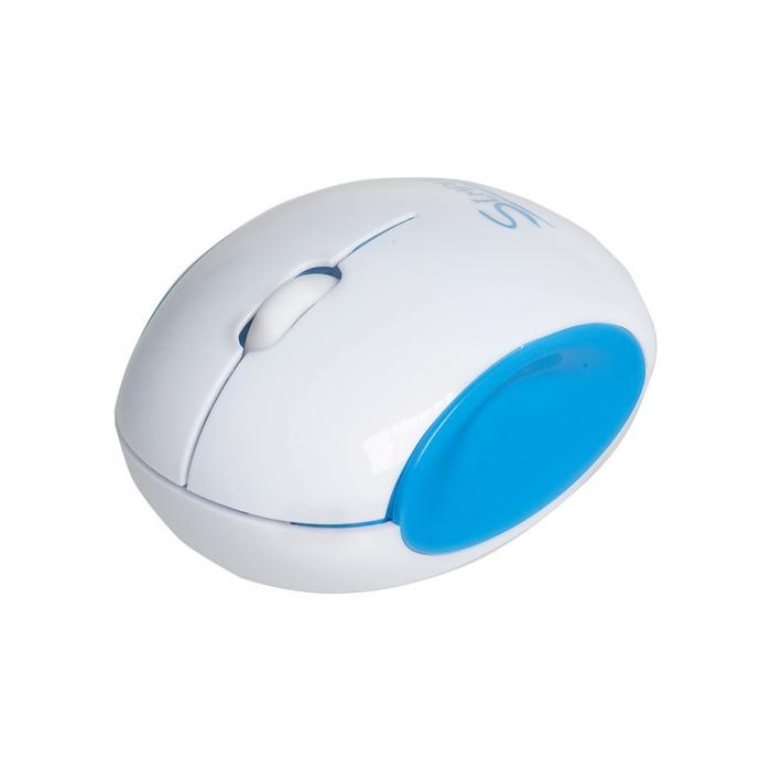 CBR Simple S14, Blue мышьS14 BlueГлавным достоинством CBR Simple S14 является ее дизайн. Эргономичный корпус округлой формы легко ложится в руку, боковые вогнутые вставки созданы специально, чтобы пальцам было удобно. Мышь симметричная и потому подходит для правшей и левшей. CBR Simple S14 представлена в трех цветовых решениях: бело-голубом, бело-зеленом и бело-розовом. Эти сочетания выбраны не случайно, они отражают характер самой марки Simple - легкий и позитивный. Комбинированная упаковка из премиум-картона и прозрачного пластика не только демонстрирует все преимущества продукта, но и вполне заменит подарочную.