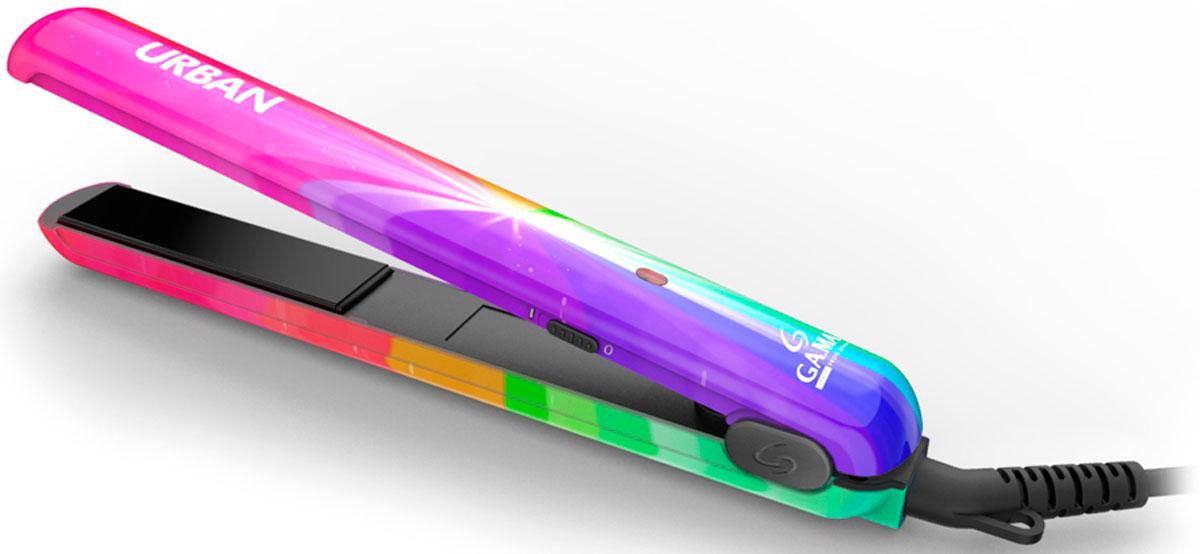 GA.MA Urban Rainbow выпрямитель для волосP21.URB.RAINBOWКерамические пластины GA.MA Urban Rainbow с турмалиновым покрытием обеспечивают равномерное выпрямление волос, делая их гладкими и предотвращая спутывание волос, придают волосам здоровый блеск. Благодаря скругленной форме пластин очень легко как завить, так и выпрямить волосы, в то время как турмалиновое покрытие сохраняет здоровье и блеск каждого волоса. Выпрямитель имеет вращающийся на 360° шнур для комфортного использования, а также плавающие пластины для максимально деликатной укладки ваших волос.