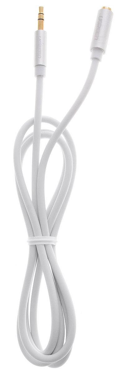 Ugreen UG-10774, White Silver кабель-удлинитель AUX 1 м