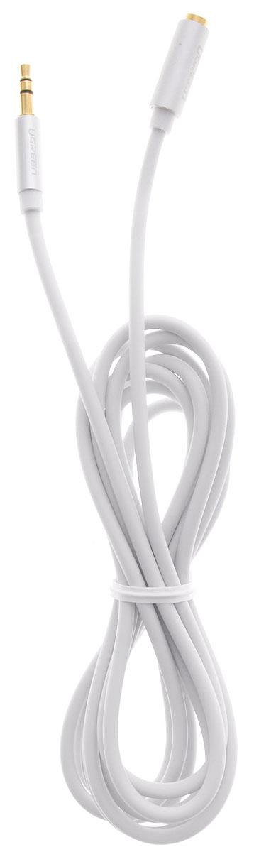 Ugreen UG-10776, White Silver кабель-удлинитель AUX 2 мUG-10776Кабель-удлинитель Ugreen UG-10776 предназначен для подключения основного аудиокабеля, тем самым увеличив расстояние. Главное отличие этого аудио кабеля - мягкая оболочка и стильные металлические соединители. Прекрасное качество исполнения и экранирование позволит избежать влияния помех при передаче сигнала.