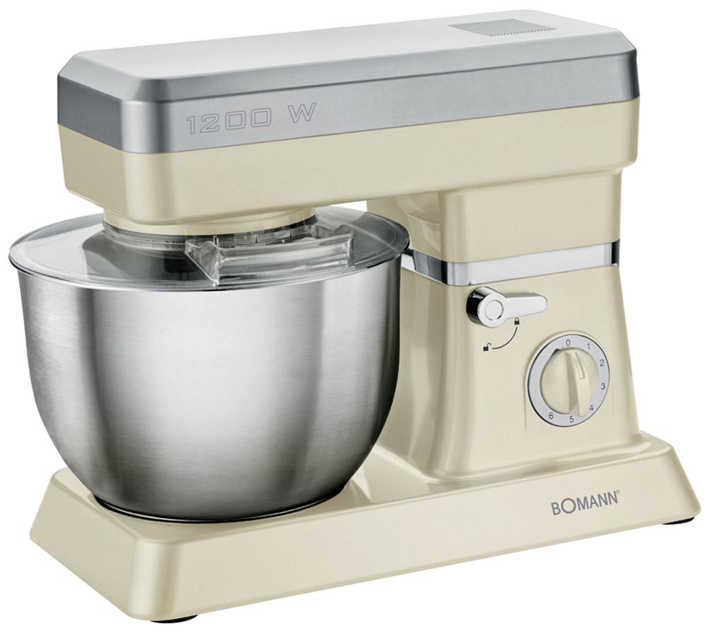 Bomann KM 398 CB, Cream миксер стационарныйKM 398 CB cremeСтационарный миксер Bomann KM 398 CB станет прекрасным помощником для любой хозяйки С ним вы сможете готовить невероятно вкусные и аппетитные блюда, при этом сократив время их приготовление. Основным назначением прибора является изготовление различных видов теста и кремов. Миксер качественно и быстро перемешивает различные ингредиенты, что дает возможность избежать комочков. Bomann KM 398 CB снабжен чашей из нержавеющей стали и механической системой управления. 6 скоростей замешивания + импульсный режим обеспечат наилучший результат.