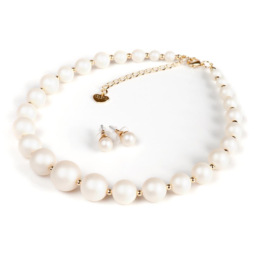 Комплект 2-х предметов Selena 'Audrey', цвет: белый, золотистый. 10099842