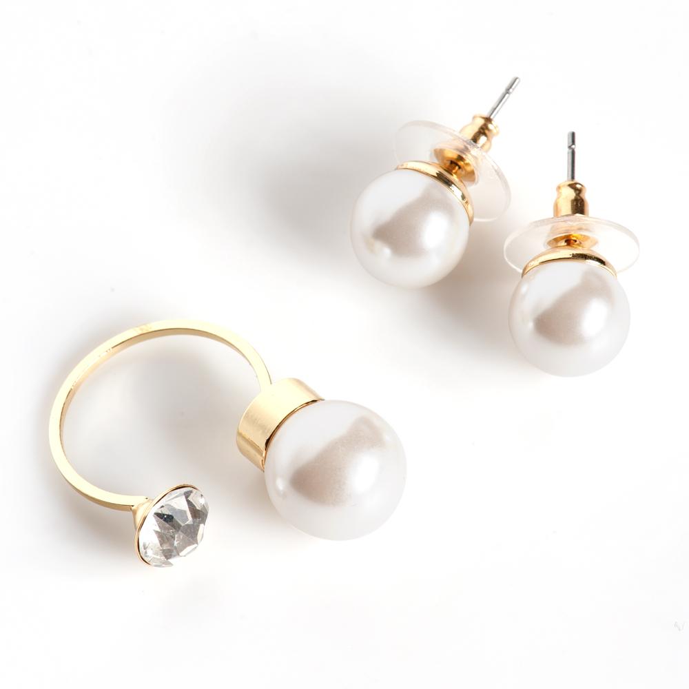 Комплект 2-х предметов Selena 'Audrey', цвет: белый, золотистый. 10099866