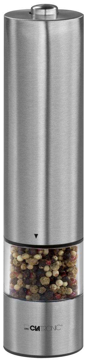 Clatronic PSM 3004 N, Silver измельчитель специйPSM 3004 NClatronic PSM 3004 N - высококачественный измельчитель для специй в корпусе из нержавеющей стали. Благодаря регулируемой керамической точной дробилке вы получите мелкий, средний или грубый помол. Работать с данным прибором можно даже одной рукой. Это довольно удобно, когда у вас другая рука занята, например, крышкой от кастрюли. А чтобы не ошибиться в необходимом количестве специй, на корпусе предусмотрен встроенный фонарик. Clatronic PSM 3004 N станет для вас не только незаменимым помощником в создании кулинарных шедевров, но и функциональным украшением вашей кухни. Питание: 4 батарейки 1,5 V/AA/Mignon/LR/AM3 (не входят в комплект).