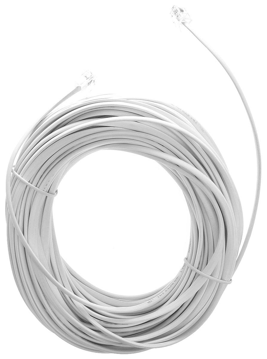 Greenconnect GA-TP6P4C, White кабель телефонный 20 мGA-TP6P4C-20mТелефонный кабель Greenconnect GA-TP6P4C предназначен для подключения телефонных аппаратов и модемов.